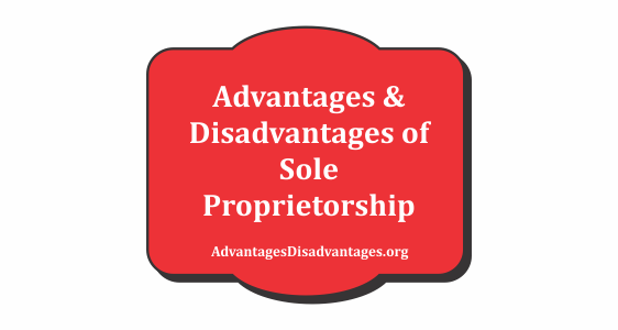 Advantages and Disadvantage of Sole Proprietorship