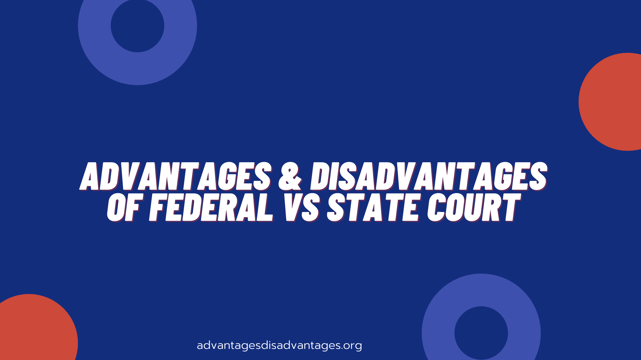 Federal vs State Court